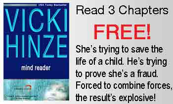 Mind Reader, Reunited Hearts Series, Vicki HInze, Free Preview