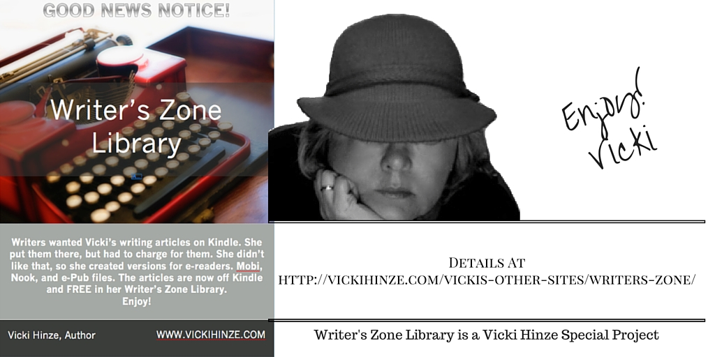Vicki Hinze, Writer's Zone Library
