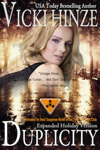 Vicki Hinze, Duplicity Expanded Holiday Version, military romantic suspense, thriller