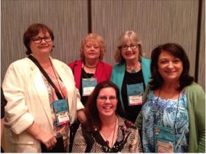 Debra Webb, Vicki Hinze, Peggy Webb (back) Regan Black and Kathy Carmichael aka the IT Girls