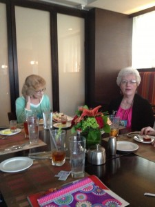 Elizabeth Sinclair and Sharon Sala at the Bell Bridge Books Luncheon