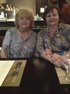 Vicki Hinze and Debra Webb at one of the dinners