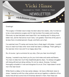 vicki hinze newsletter