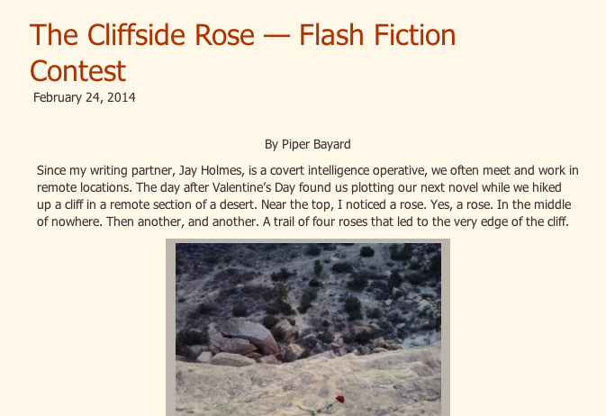 Cliffside Rose Flash Fiction Contest–Enter to Win!