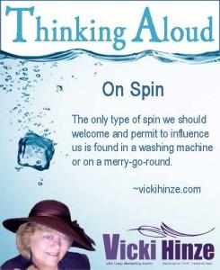 vicki hinze, thinking aloud