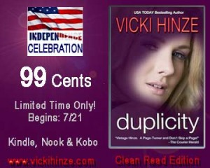 Duplicity, clean read books,, Vicki Hinze, military romantic suspense novels
