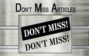 Vicki Hinze, Don't Miss Articles