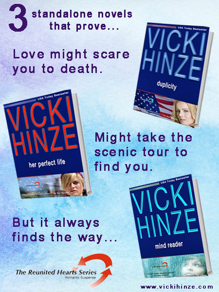 The Reunited Heart Series, Her Perfect Life, Mind Reader, Duplicity