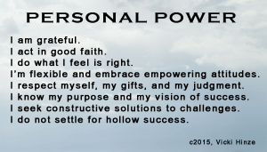 Vicki Hinze, Personal Power