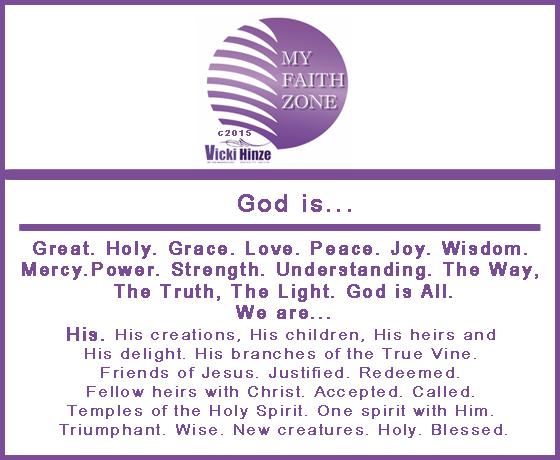 God is, Vicki Hinze, My Faith Zone Notes