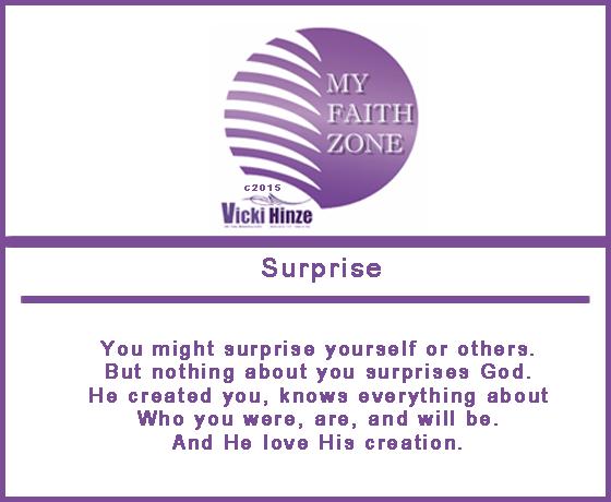 Surprising God, Vicki Hinze, My Faith Zone Notes