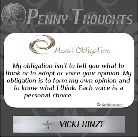 Vicki Hinze, Moral Obligation