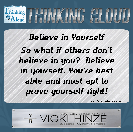 Thinking Aloud, Vicki Hinze