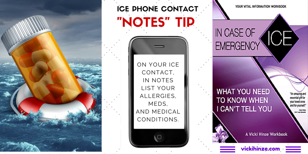 Vicki Hinze, ICE, In Case of Emergency, What You Need to Know When I Can't Tell You