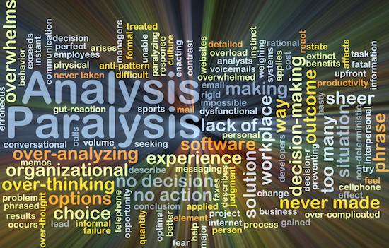 vicki hinze, analysis paralysis