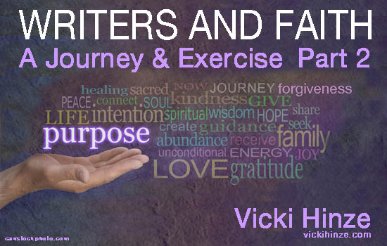 Writers and Faith: A Journey and Exercise, Part 2