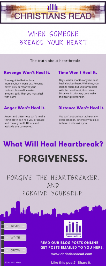 Vicki Hinze, Healing Heartbreak Infographic