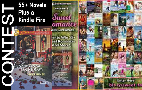Contest, 55 novels plus kindle fire, enter to win, vicki hinze, current book contest, sweet romance novels