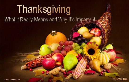 Thanksgiving, Vicki Hinze