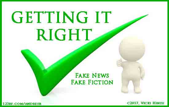 Getting It Right: Fake News, Fake Fiction