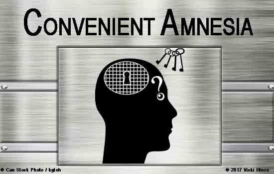 Convenient Amnesia?