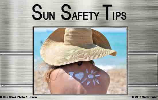 Sun Safety Tips, Vicki Hinze,