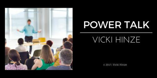 Vicki Hinze, Power Talk