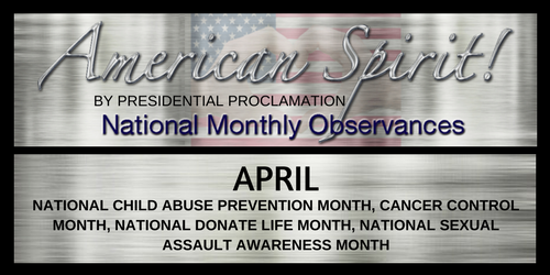 American Spirit:  April National Observances