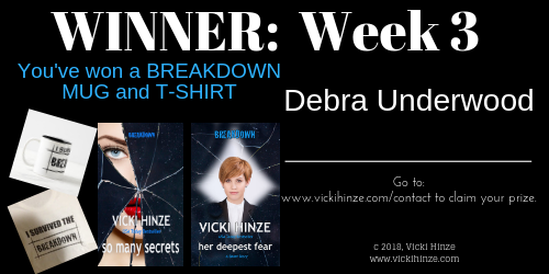 Vicki Hinze, Breakdown, Contest News
