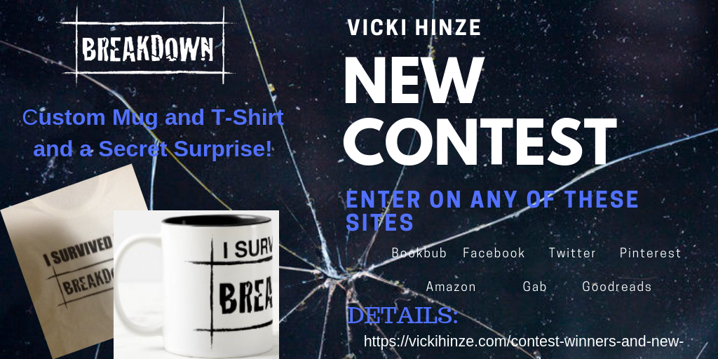 Vicki Hinze, Enter Week 4 contest