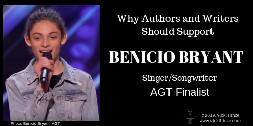 WHY AUTHORS AND WRITERS SHOULD SUPPORT  BENICIO BRYANT SINGER/SONGWRITER FINALIST ON AMERICA'S GOT TALENT