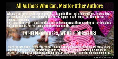 Authors Who Can Should Mentor Because…