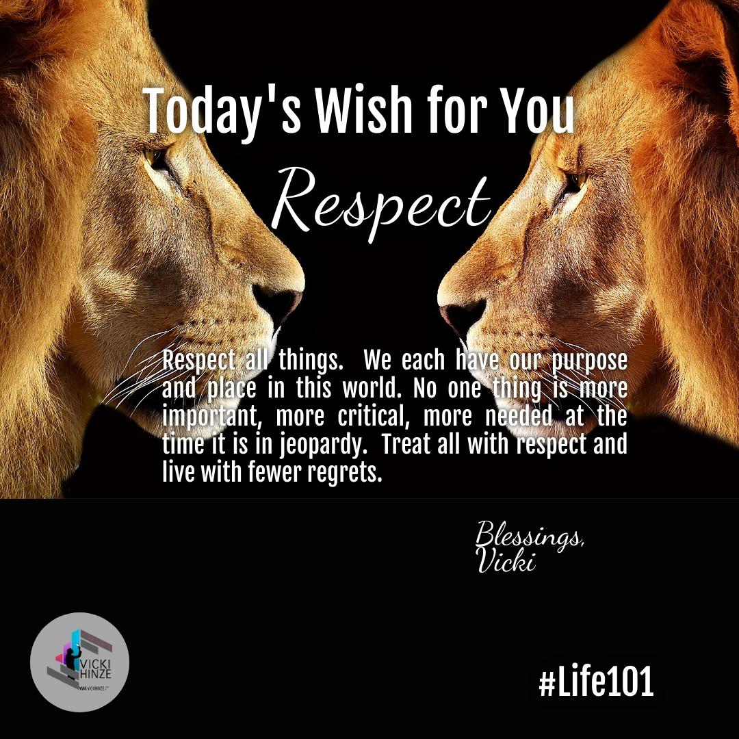 respect, vicki hinze, wishes