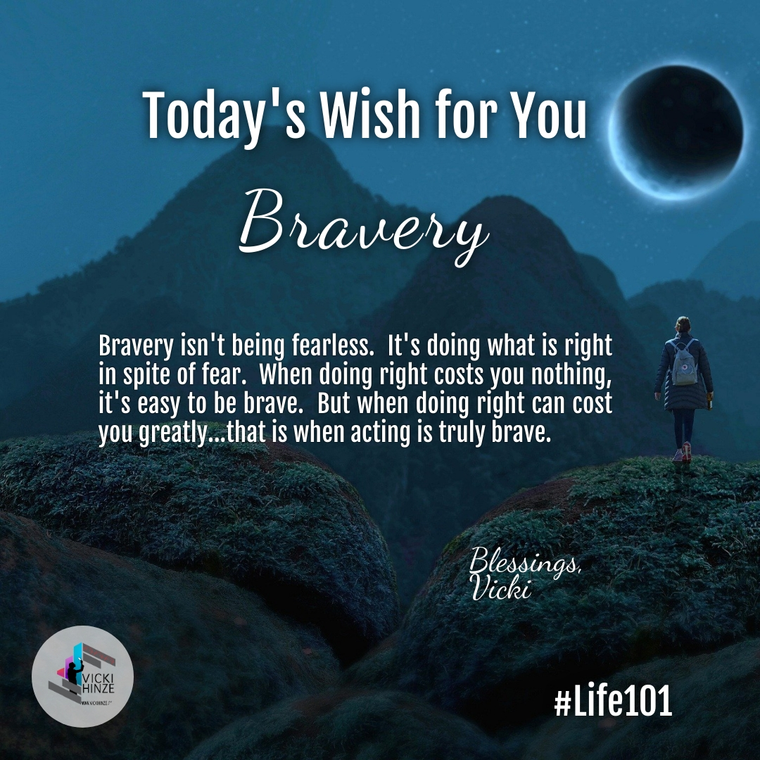 Morning Wishes, Bravery, Vicki Hinze