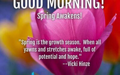 Good Morning: Spring Awakens!