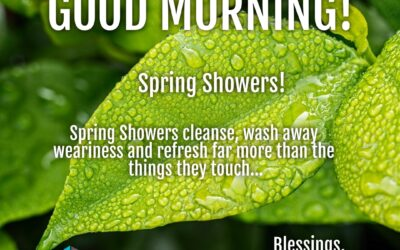 Good Morning:  Spring Showers!