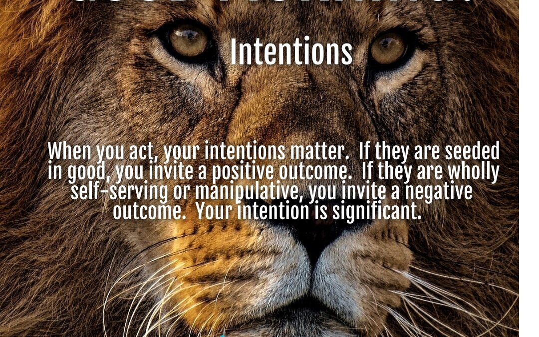 Morning Wishes:  Intentions