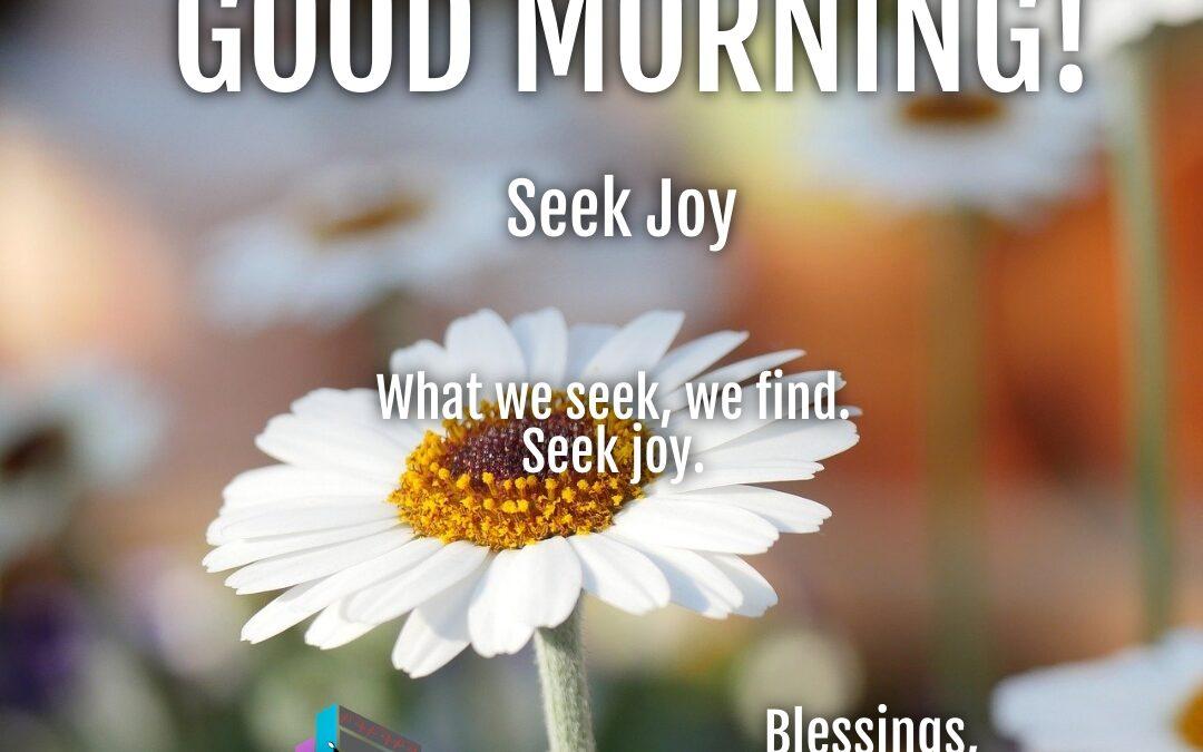 Morning Wishes:  Seek Joy