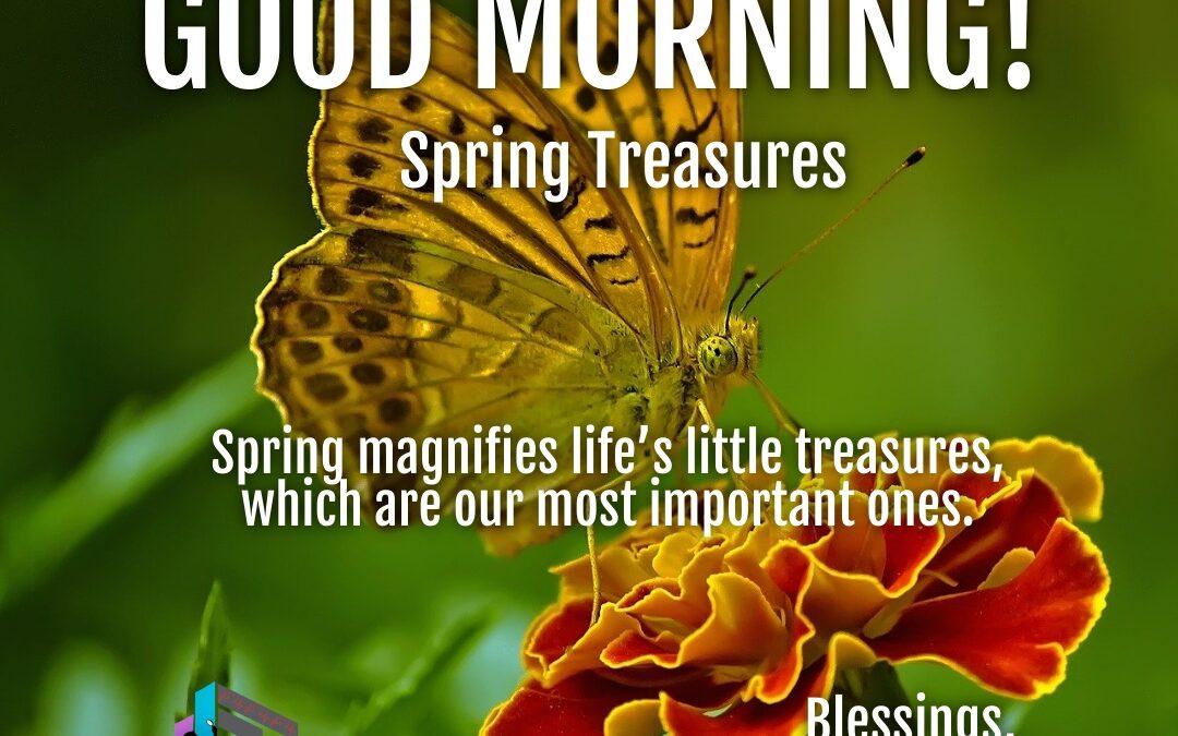 Good Morning:  Spring Treasures