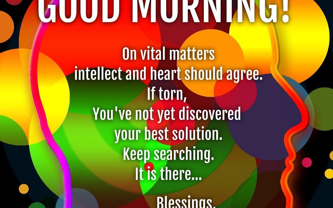 Good Morning:  Agree