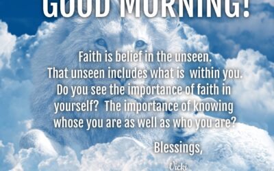 Good Morning:  Look Within