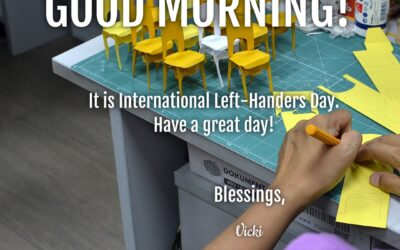 Good Morning:  It's International Left-Handers Day!